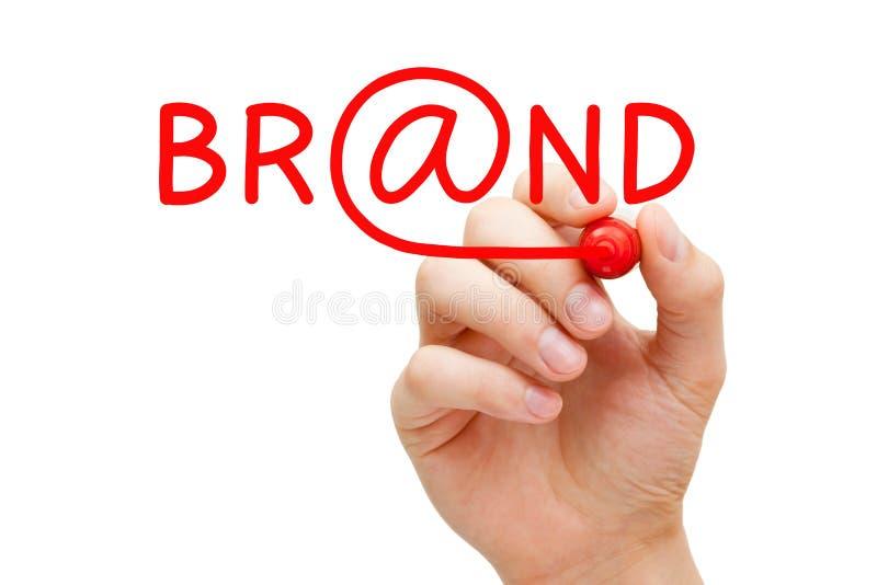 网上品牌概念 库存图片