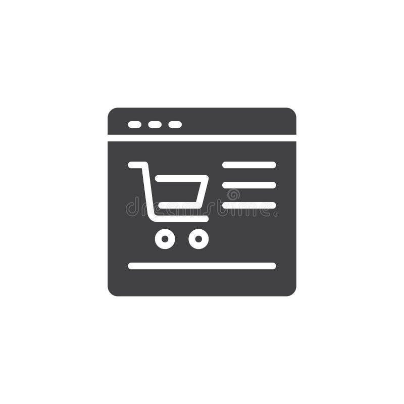 网上商店传染媒介象 库存例证