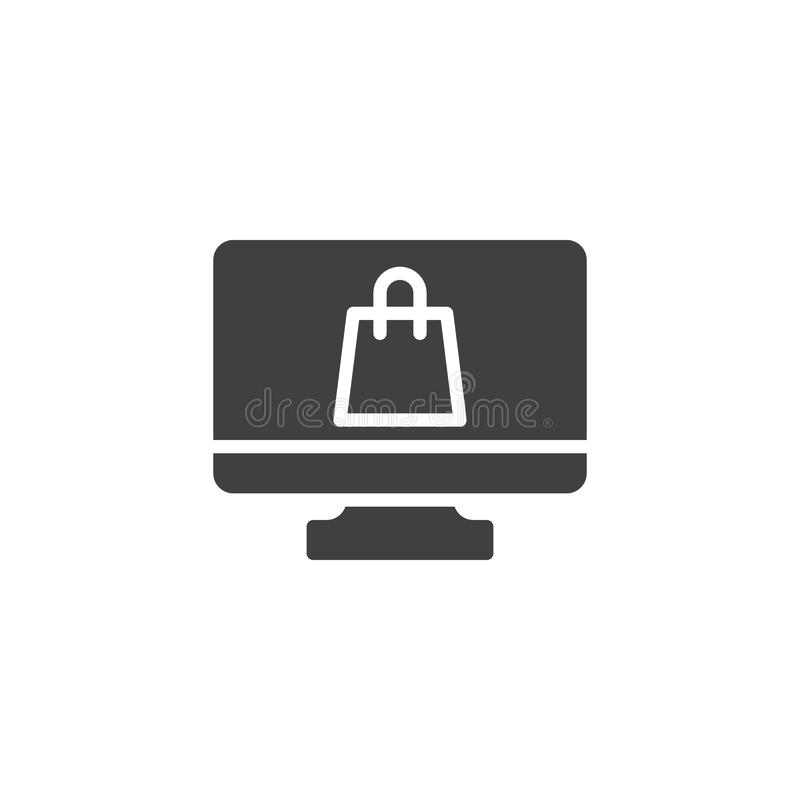 网上商店传染媒介象 皇族释放例证
