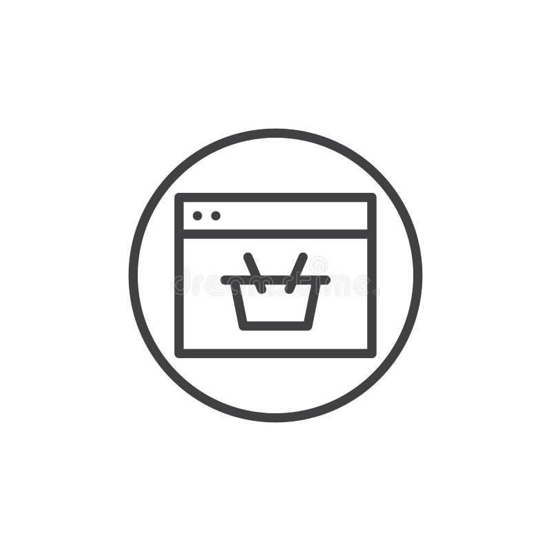 网上商店线象 皇族释放例证