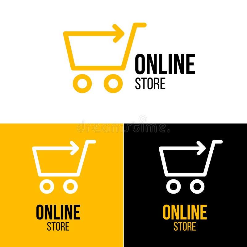网上商店设计商标 向量例证
