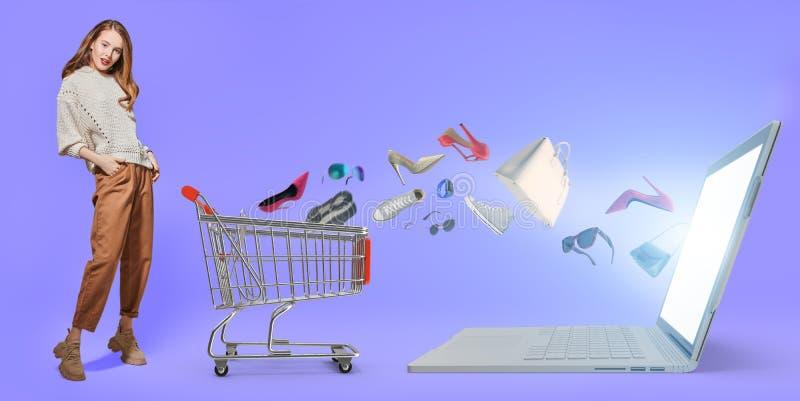 网上商店销售 库存照片