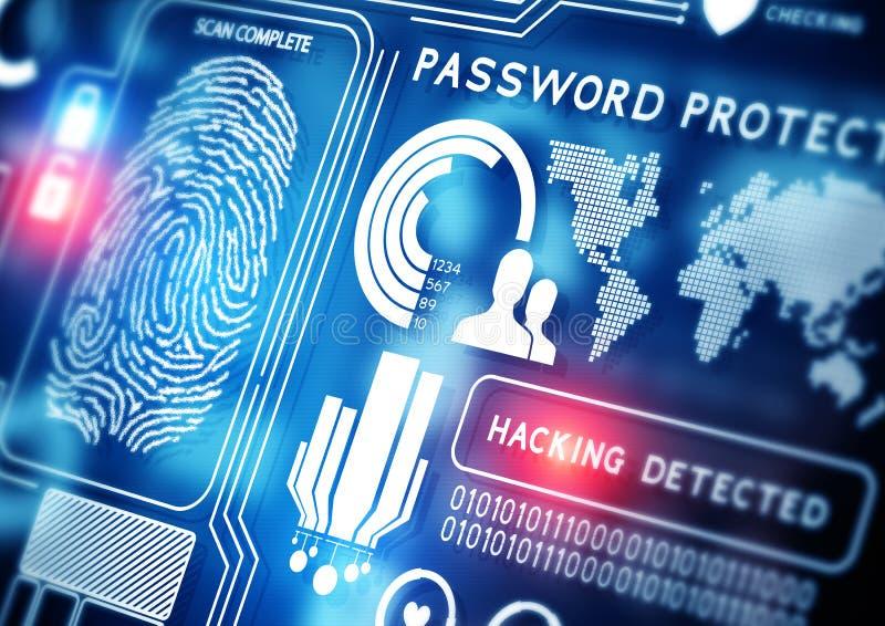 网上安全技术 图库摄影