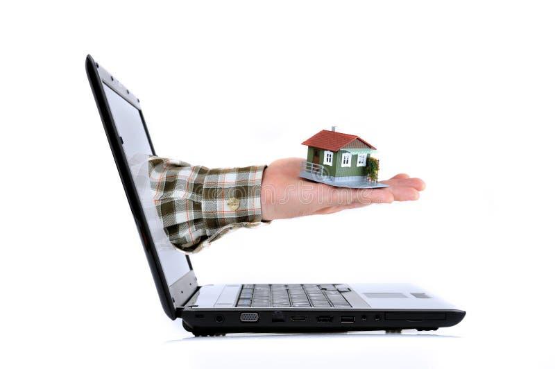 网上房地产概念 免版税库存照片