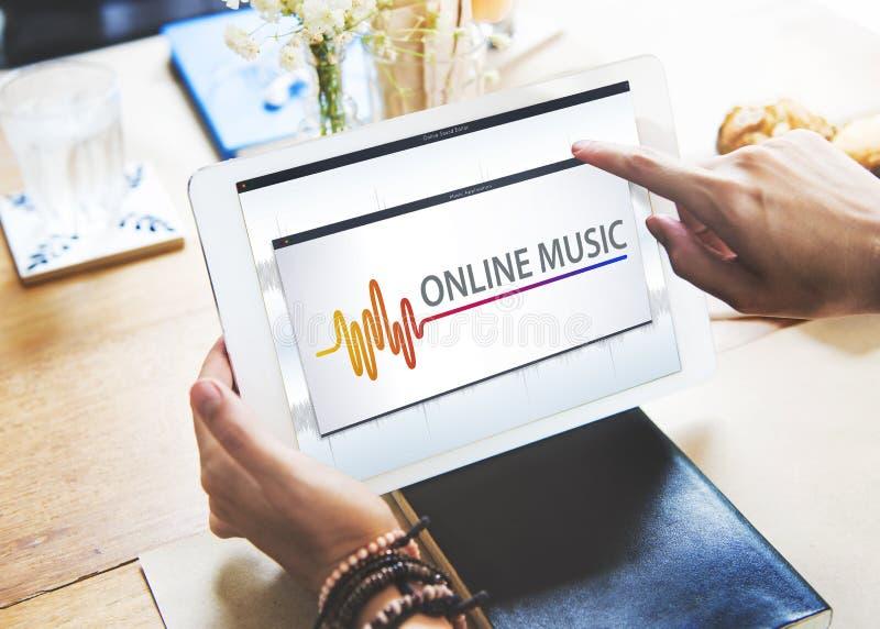 网上放出波浪图表概念的音乐音频音乐 库存图片