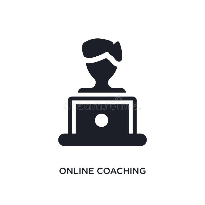 网上教练的被隔绝的象 从电子教学和教育概念象的简单的元素例证 网上教练编辑可能 库存例证