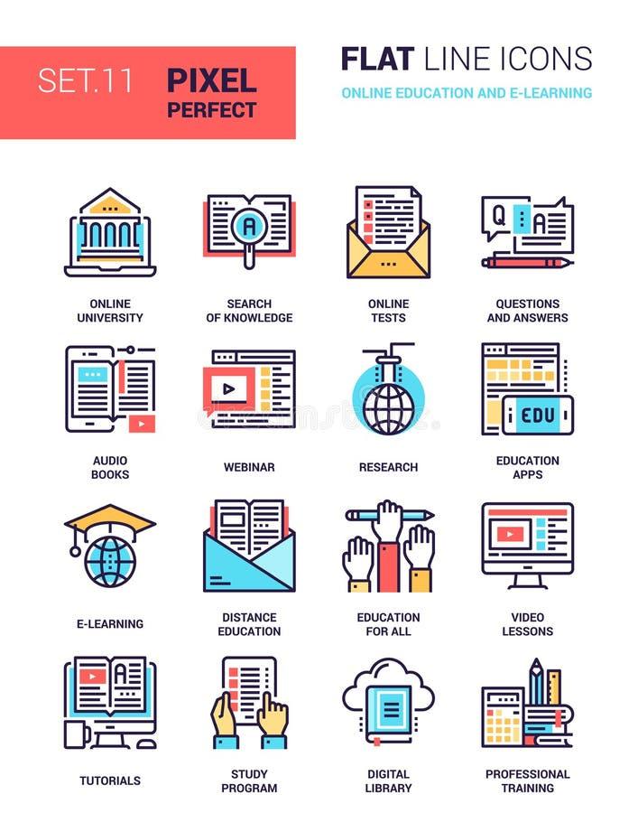 网上教育和电子教学 向量例证