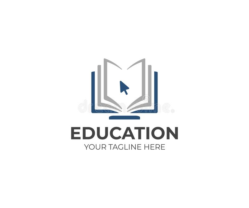 网上教育商标模板 远距离学习传染媒介设计 皇族释放例证