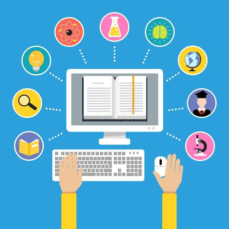 网上教育概念 库存例证