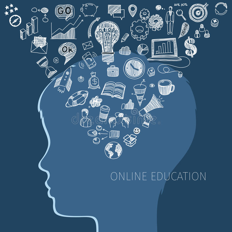 网上教育的概念 向量例证