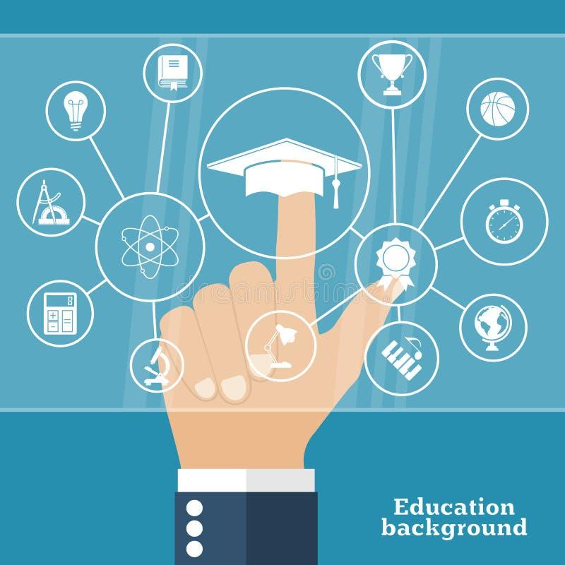 网上教育,电子教学 库存例证