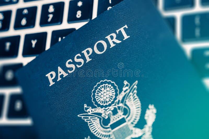 网上旅行计划 免版税图库摄影