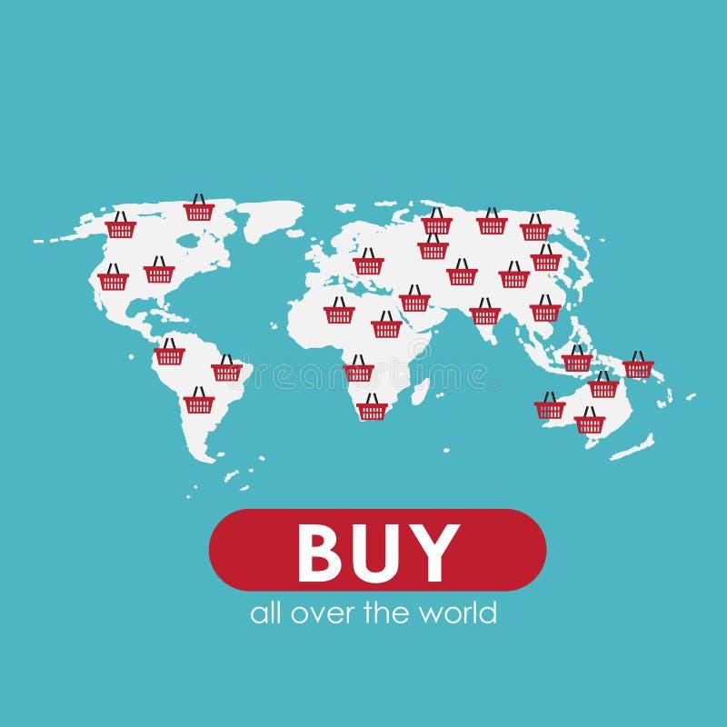 网上流动阿普斯的购物平的概念 库存例证