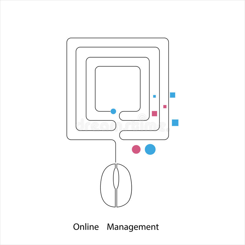 网上管理 向量例证