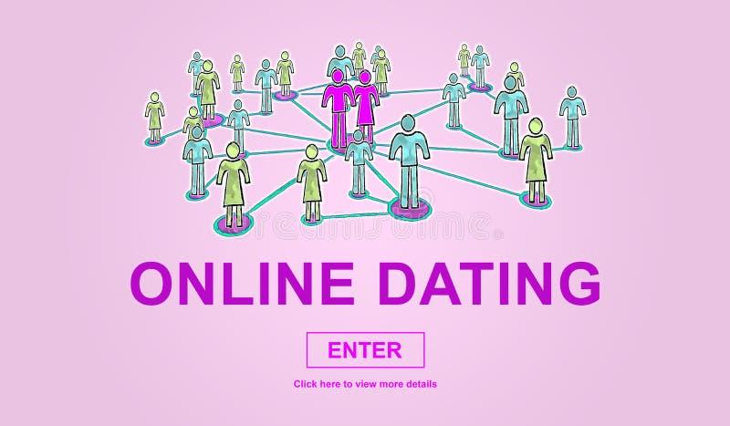 网上约会的概念 库存例证