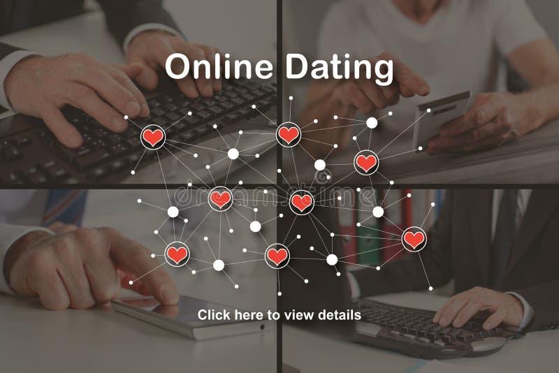 网上约会的概念 库存照片