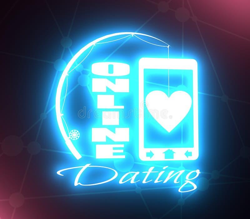 网上约会的app概念 向量例证