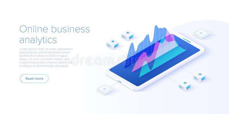 网上经营分析战略等量传染媒介例证 公司销售的解答的数据逻辑分析方法或财政 库存例证
