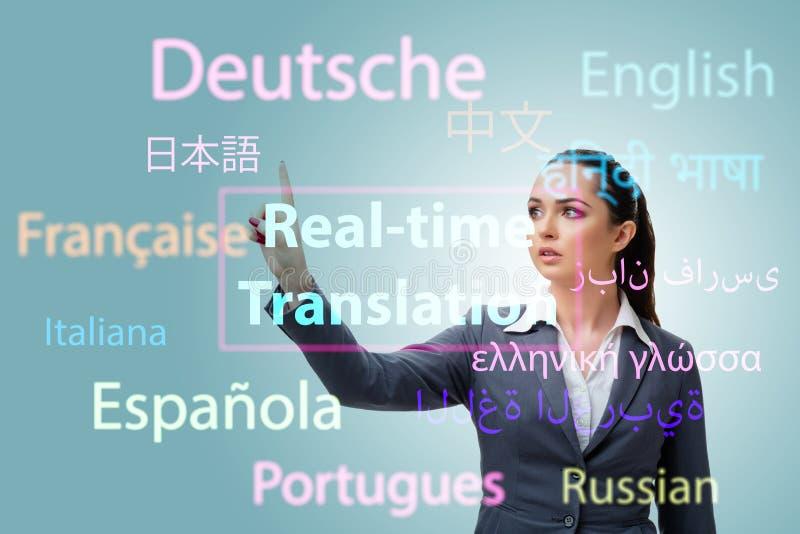 网上翻译的概念从外国语的 库存图片