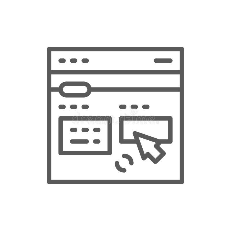 网上翻译站点线象 S 向量例证