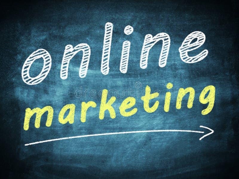 网上营销 向量例证