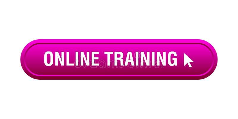 网上训练按钮 皇族释放例证