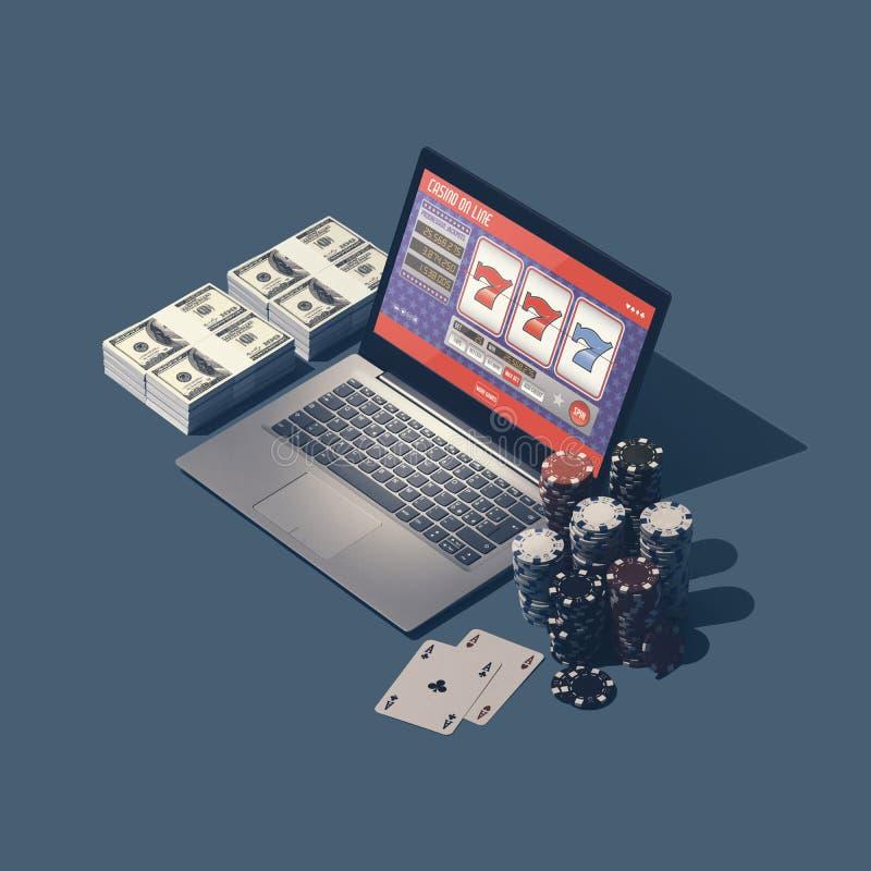 网上赌博娱乐场比赛,槽孔和赌博 库存照片
