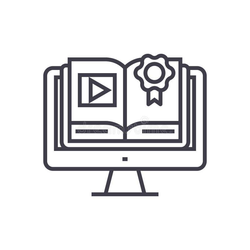 网上路线,有书概念传染媒介稀薄的线的象,标志,标志,在被隔绝的背景的例证计算机 向量例证