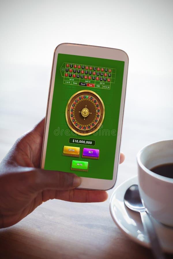 网上轮盘赌比赛的综合图象 免版税库存图片