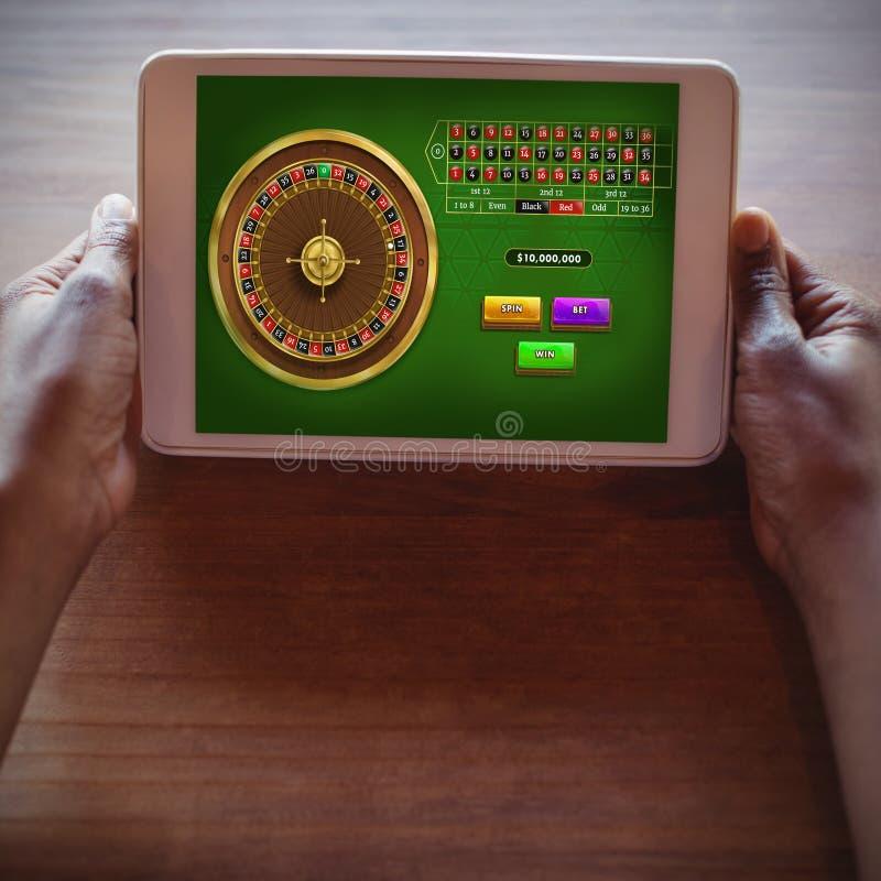 网上轮盘赌比赛的综合图象 库存照片