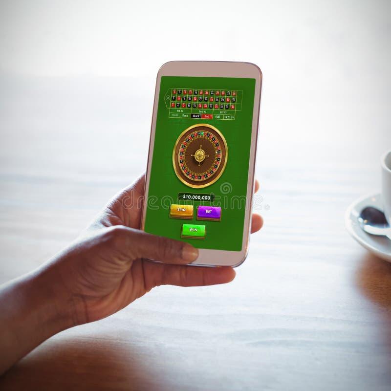 网上轮盘赌比赛的综合图象 免版税图库摄影