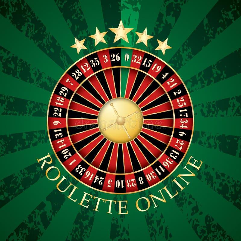 网上轮盘赌 向量例证