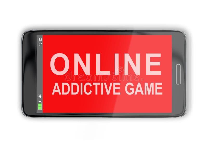 网上致瘾比赛概念 库存例证