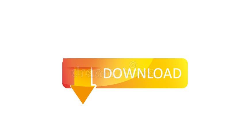 网下载商标模板-网下载象-网下载标志新的新略写法 库存例证