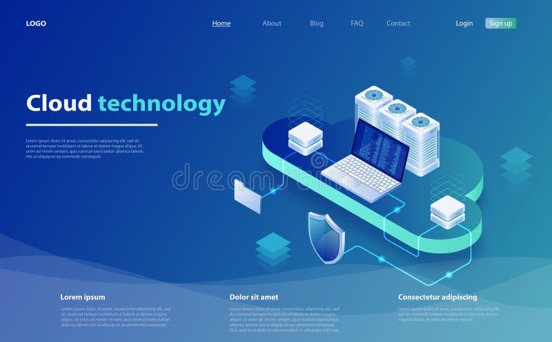网云彩技术事务 互联网数据服务 云彩数据存储 云彩计算技术用户网络 向量例证