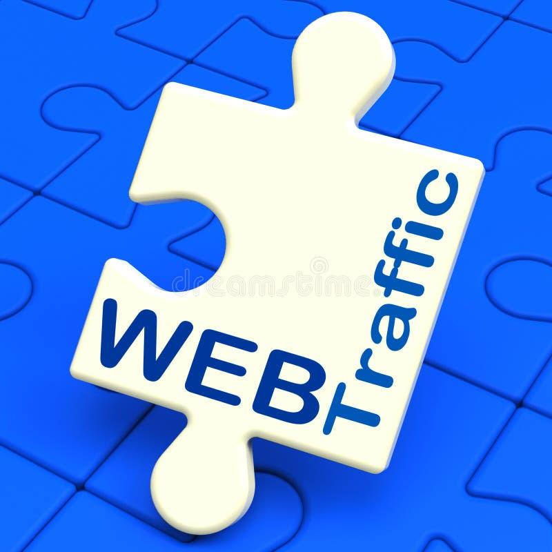 网交通显示访客到网站 向量例证