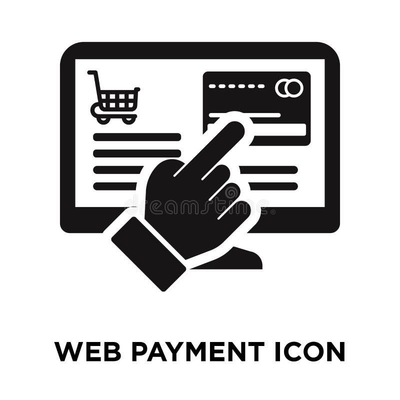 网付款在白色背景隔绝的象传染媒介,商标conce 库存例证