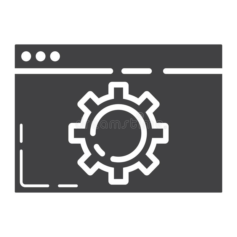 网优化纵的沟纹象、seo和发展 向量例证