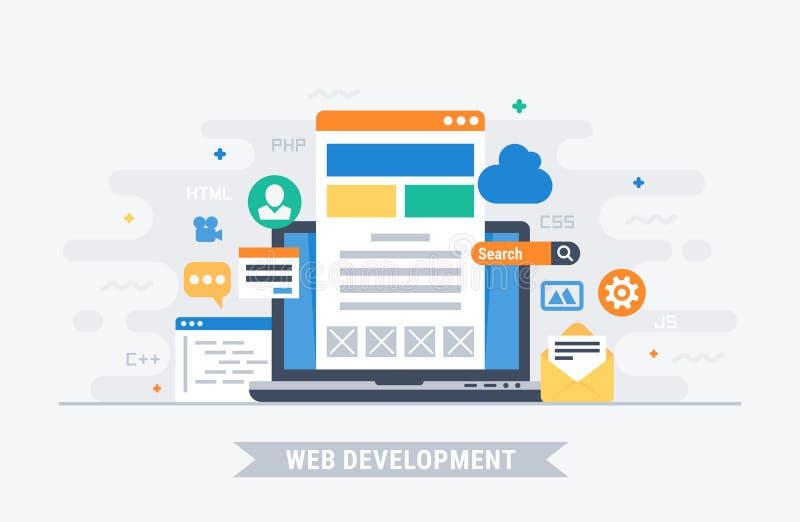 网发展传染媒介例证 向量例证