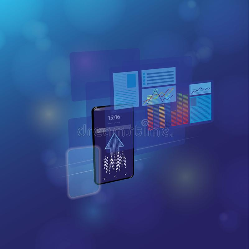 网发展和编制程序 发怒平台发展网站 能适应的布局网页或网接口在屏幕上 向量例证