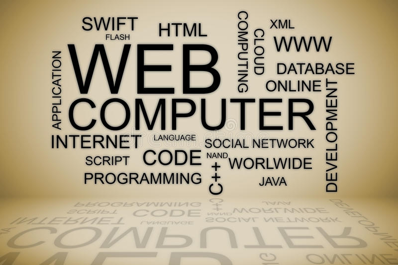 网发展网上解答 库存例证