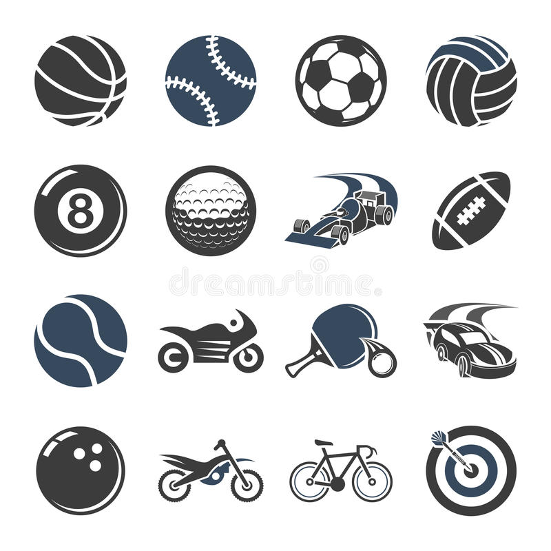网和机动性的体育象 向量例证
