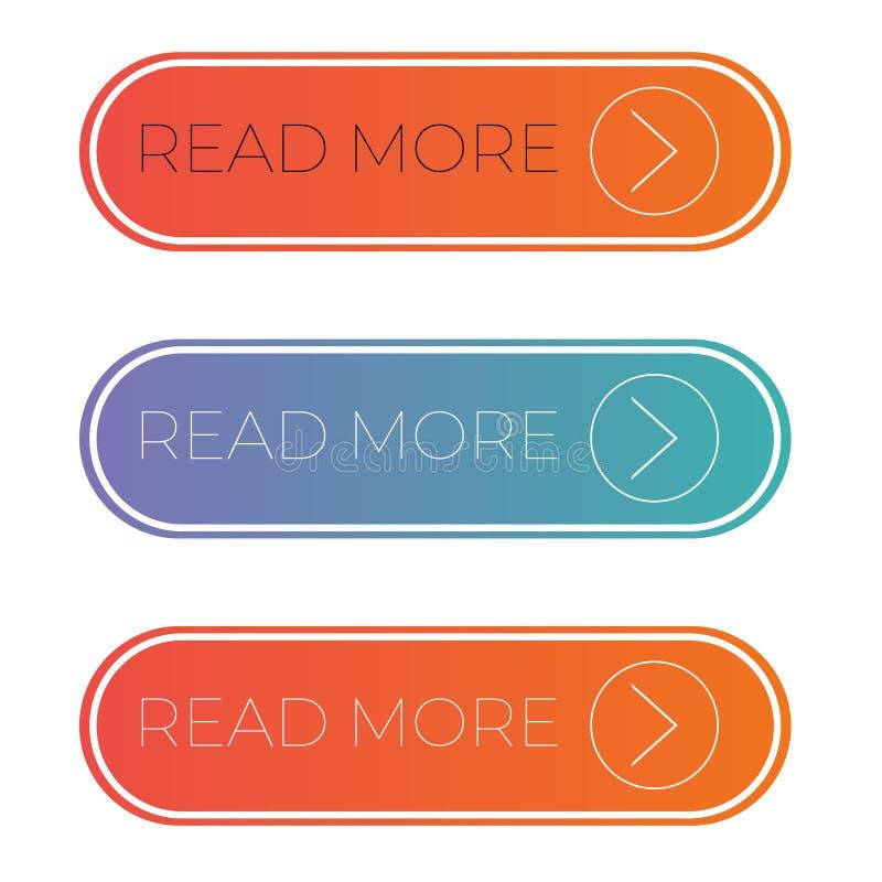 网和机动性读了更多按钮 皇族释放例证