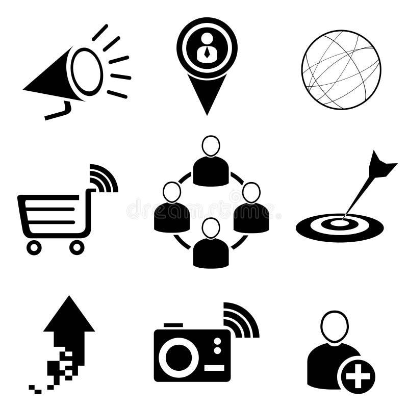 网和社会媒介象 库存例证