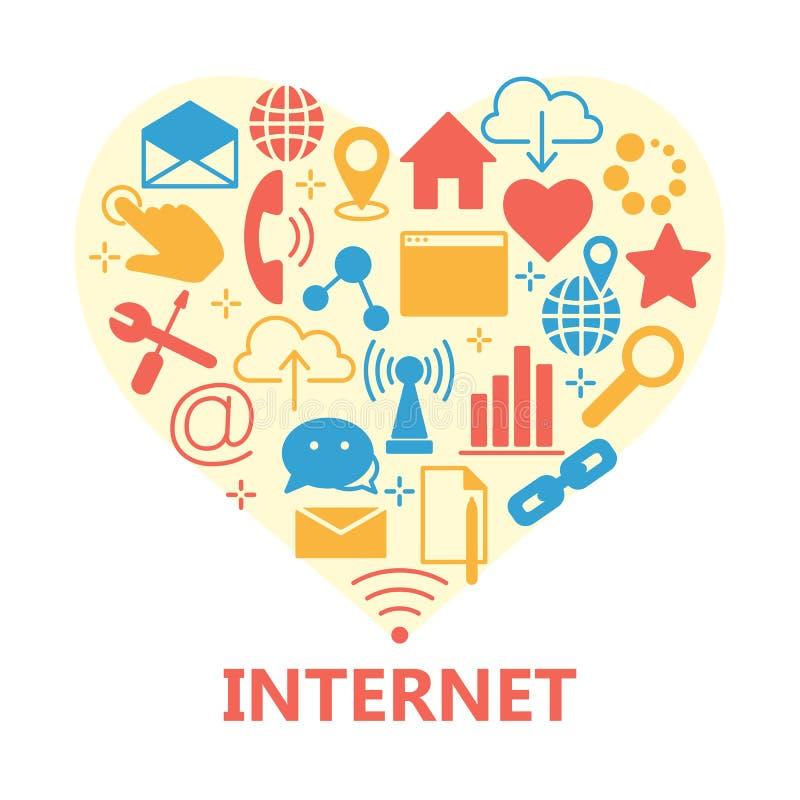 网和计算机基本的象 向量例证