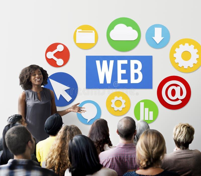 网图形设计技术标志概念 免版税库存图片