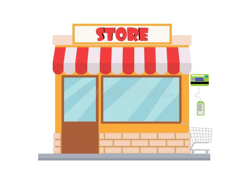 网在现代平的设计的样式的商店市场 皇族释放例证
