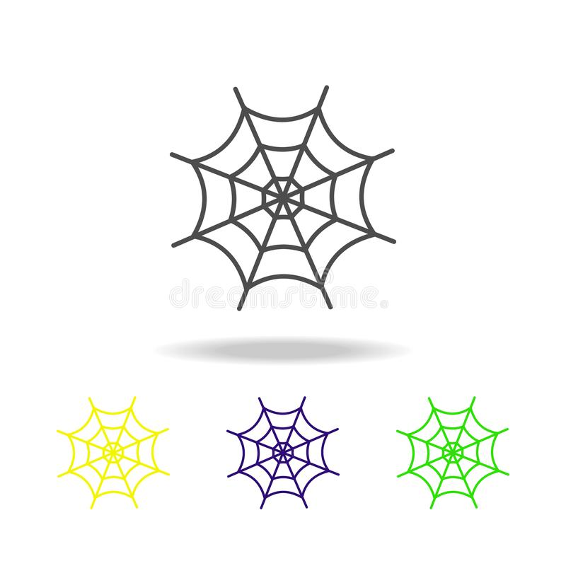 网多彩多姿的象 鬼魂元素例证的元素 标志和标志象可以为网,商标,流动应用程序,UI使用, 向量例证