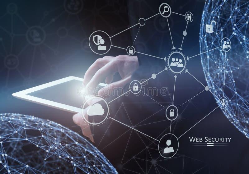 网安全概念 混合画法 皇族释放例证