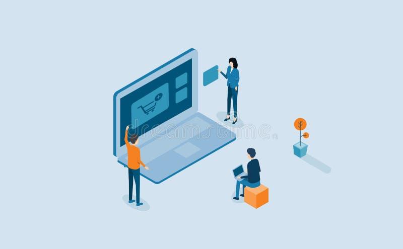 网开发和网络设计过程 皇族释放例证